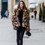 Abrigo de pelo con colores de Leopardo