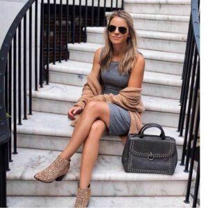 Cómo Combinar Zapatos Animal Print con Vestido Casual