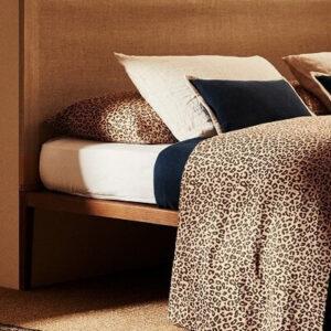 Colcha y Cojines en Animal Print de Leopardo