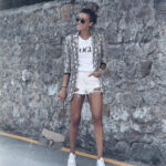 Total look Blanco + Blazer Serpiente