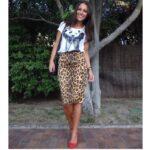 Falda Animal Print + Zapatos Rojos
