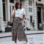 Falda estampado Leopardo+ Tonos Blancos