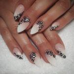 Uñas Borde Animal Print Leopardo