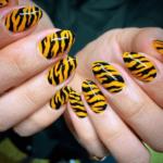 Uñas Animal Print Tigre