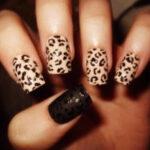 Uñas Animal Print Leopardo y Marrón