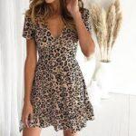 Vestido Corto Leopardo